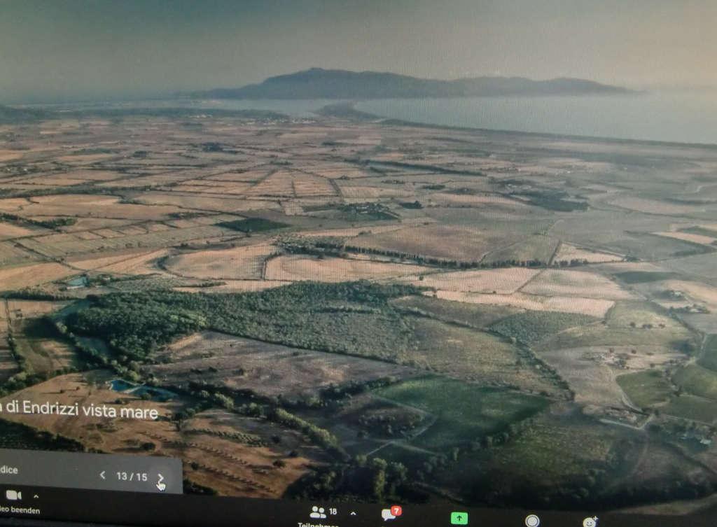 Blick zum Meer aus der Luft von Podere Maremmello in 58015 Fonteblanda (Orbetello GR) Italien