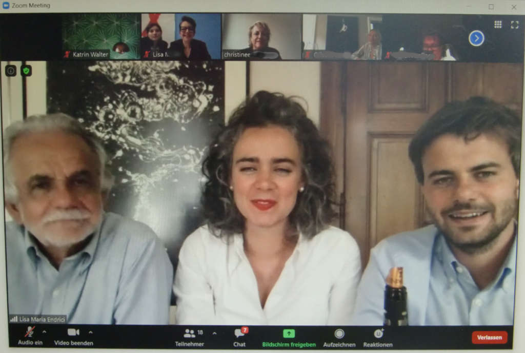 Zoom-Meeting mit Paolo, Lisa Maria und Daniele Endrici - Weinpremiere einmal anders. Foto: Katrin Walter - simply walter