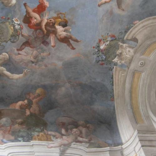 Fresco mit Weinszene in der Villa della Regina - Foto: Katrin Walter - simply walter