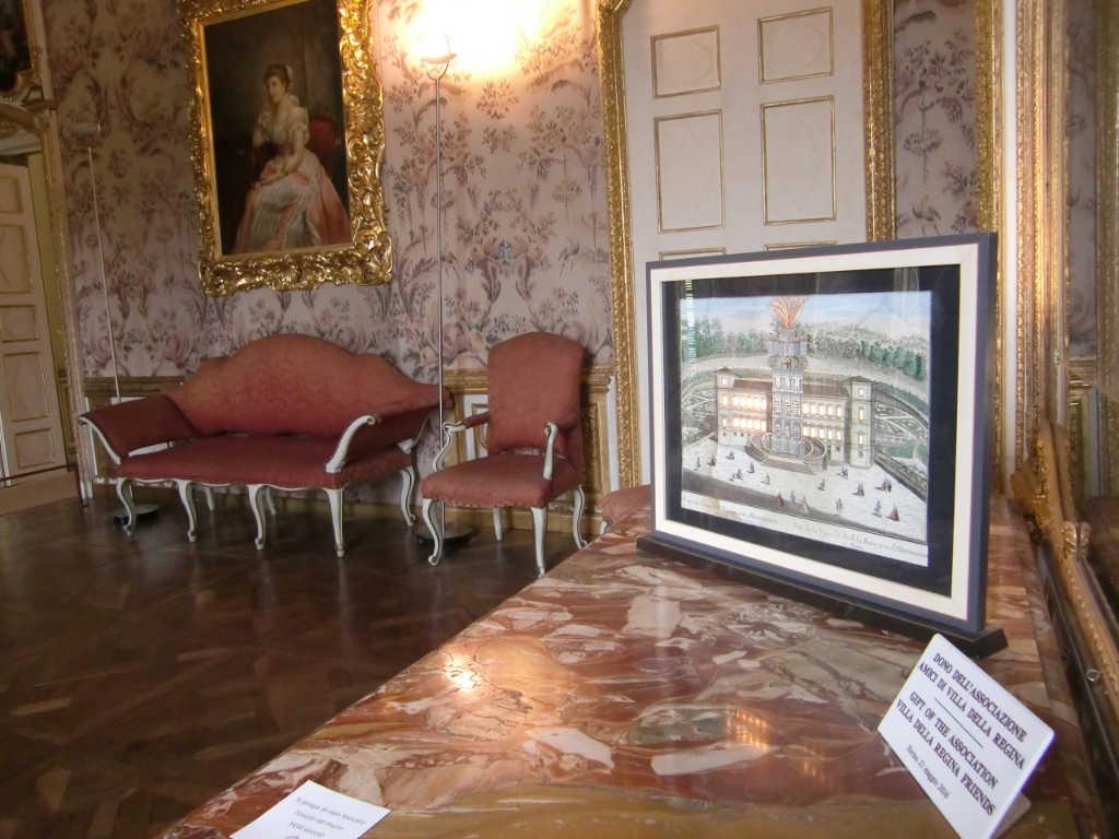 Innenansicht eines Raums der Villa della Regina in Turin. Foto: Katrin Walter - simply walter