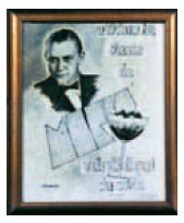 Werbeplakat für die Coppa Venturino Tirime Su. Screenshot aus dem Buch Tiramisu von Walter Filiputti. Illustration für den Artikel von Katrin Walter, simply walter über das Dessert