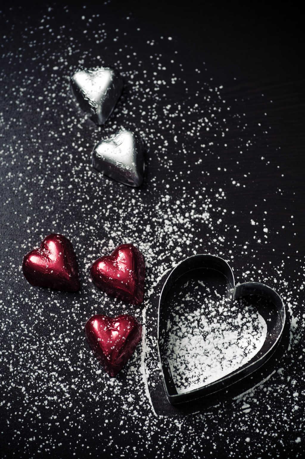 Schokoladen-Herzen zum Nikolaustag