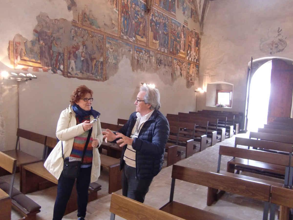 San Pietro-Kirche in Cembra (Cembratal) mit Alfonso Lettieri und Katrin Walter