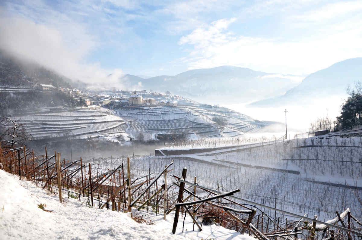 Winterliche Landschaft im Cembratal. Foto: Luciano Lona für simply walter