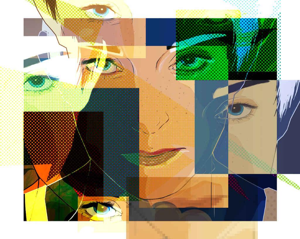 In der Gig Economy (Artikel von Katrin Walter auf simplywalter.biz) braucht es Flexibilität, was durch das Foto demonstriert wird, auf dem viele Gesichter ein und derselebn Person zu sehen sind (Foto: Pixabay)