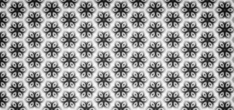 S/W-Grafik aus vielen kleinen Blumen. Jedes einzelene Element trägt zu einer optimalen Unternehmenskommunikation bei und harmonisiert das Bild. Katrin Walter - simply walter